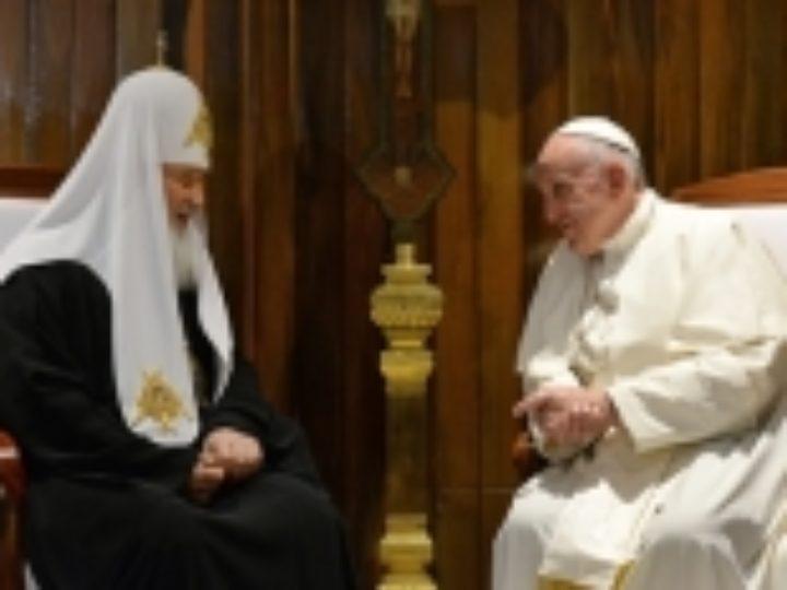 Папа Римский Франциск поздравил Святейшего Патриарха Кирилла с 10-летием интронизации