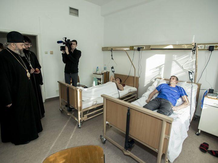 10 февраля 2019 г. Посещение митрополитом Аристархом пострадавших в чрезвычайных происшествиях на угледобывающих предприятиях Кузбасса