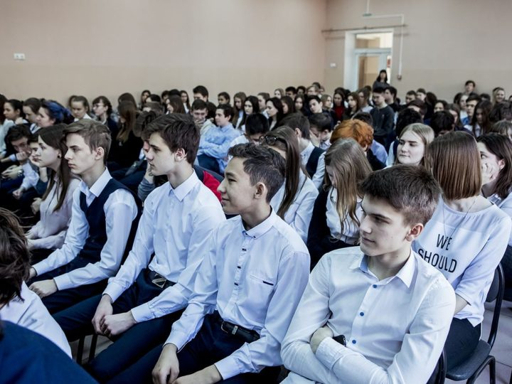 15 февраля 2019 г. Встреча митрополита Аристарха с учащимися кемеровской школы № 84