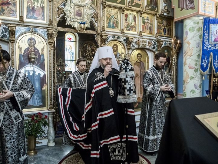 Последнюю часть Великого канона митрополит прочел в Свято-Успенском женском монастыре Елыкаева