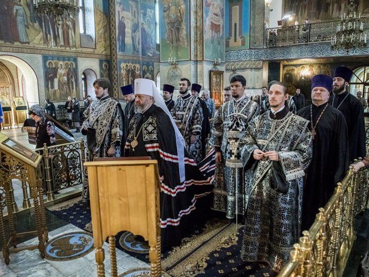 23 апреля 2019 г. Божественная литургия Преждеосвященных Даров в Знаменском кафедральном соборе в Великий Вторник