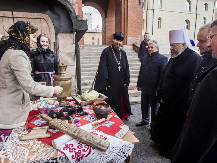 28 апреля 2019 г. Пасхальные торжества в Знаменском кафедральном соборе Кемерова