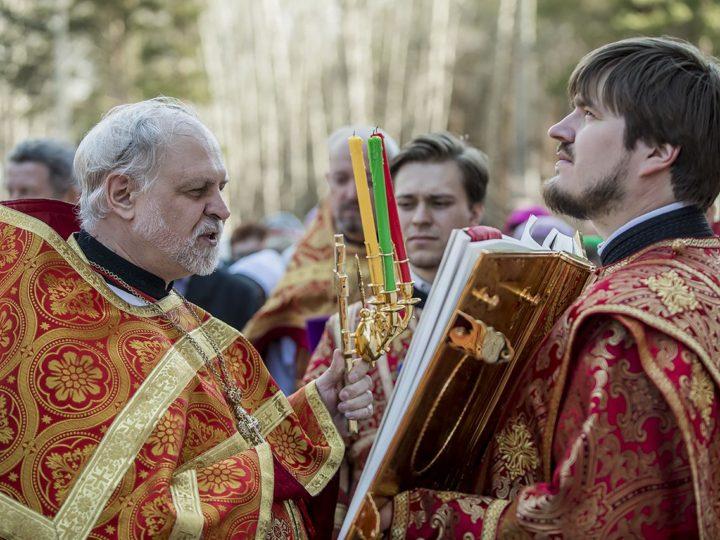 30 апреля 2019 г. Божественная литургия в соборе Рождества Иоанна Предтечи г. Прокопьевска в Светлый вторник