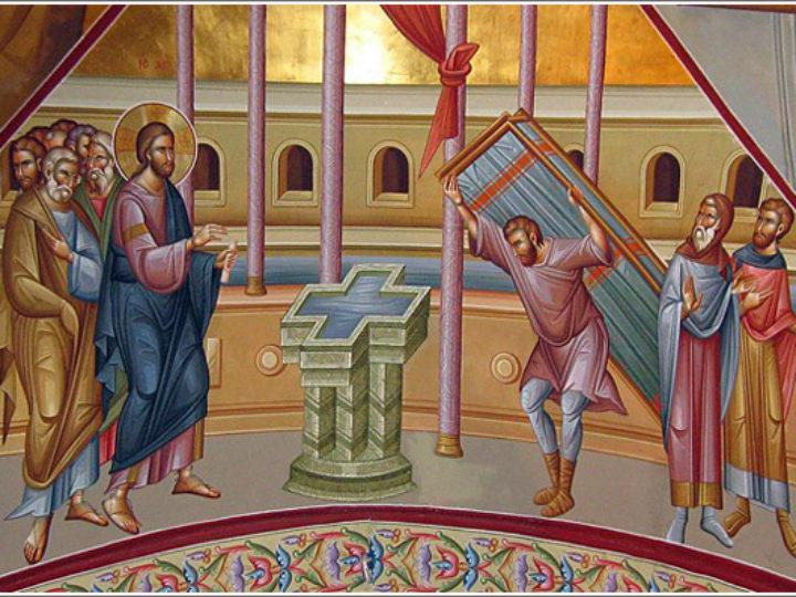 В неделю о расслабленном митрополит Аристарх совершил богослужения в Знаменском соборе