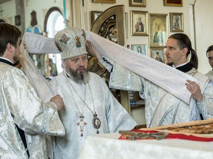 6 июня 2019 г. Божественная литургия в престольный праздник Вознесенского храма в Белове