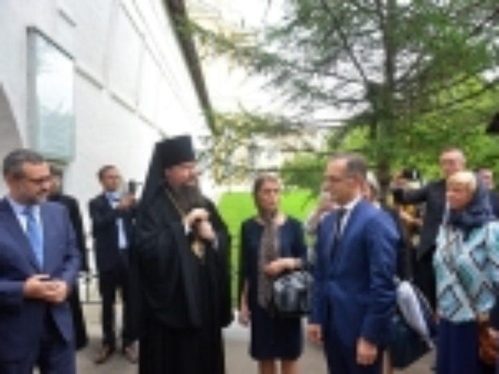 Министр иностранных дел Германии посетил Новоспасский монастырь в Москве
