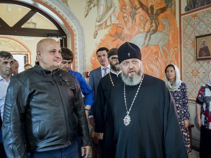 18 августа 2019 г. Посещение губернатором Кузбасса новоосвящённого храма в Гурьевске