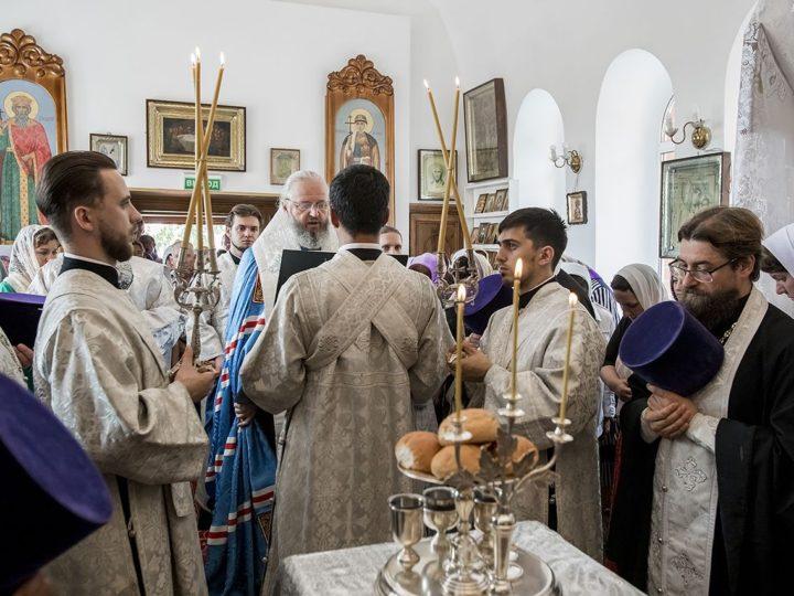 18 августа 2019 г. Всенощное бдение в Богоявленском храме Бачатского в канун Преображения Господня