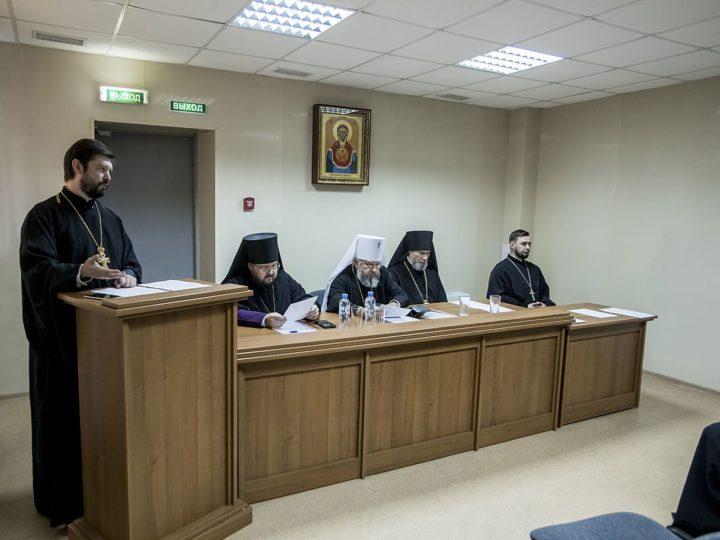 В Новокузнецком епархиальном управлении состоялось заседание Архиерейского совета митрополии