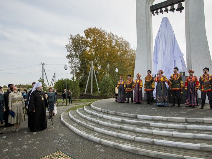 18 сентября 2019 г. Освящение скульптуры праведного Стефана Омского (Знаменского) в Прокопьевском районе