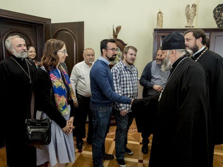 На приёме у митрополита Аристарха побывали гости XXI  Иоанновских образовательных чтений – представители педагогических сообществ России и Италии