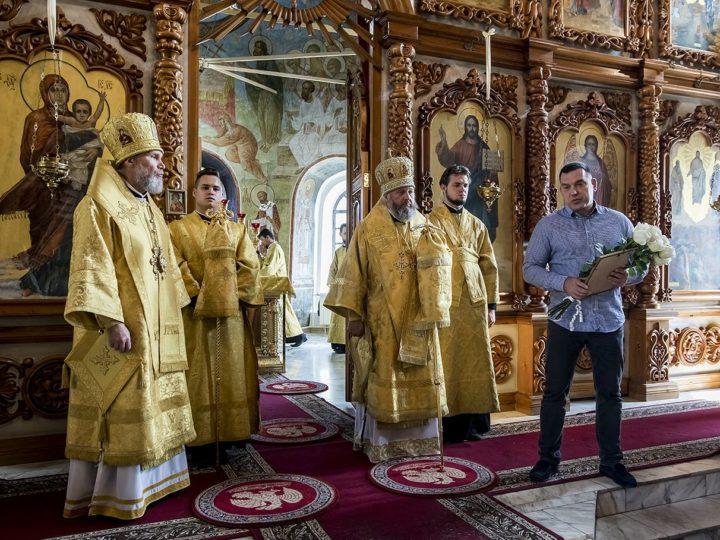 Глава митрополии поздравил епископа Новокузнецкого и Таштагольского Владимира с пятилетием архиерейской хиротонии
