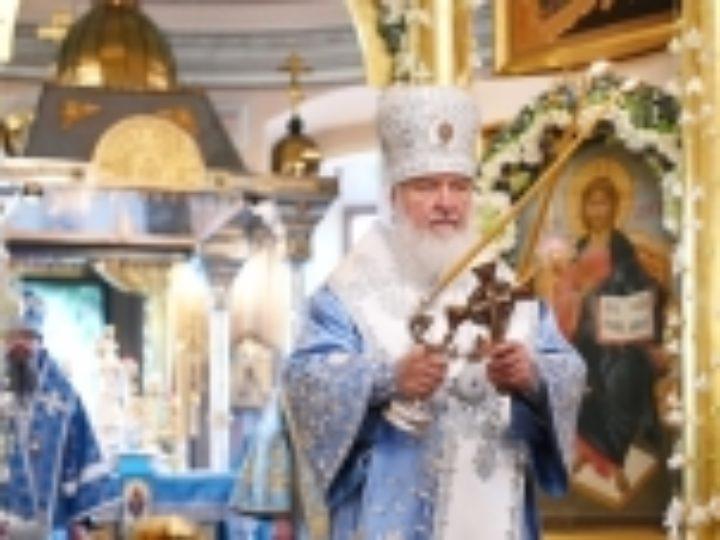 В праздник Покрова Пресвятой Богородицы Святейший Патриарх Кирилл совершил Литургию в Покровском ставропигиальном монастыре
