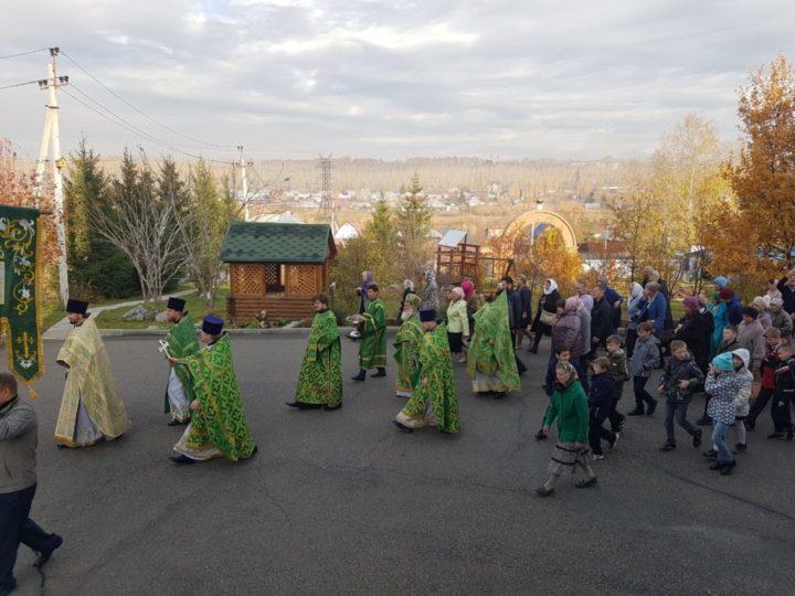 Престольный праздник храма преподобного Сергия Радонежского в посёлке Кемерова