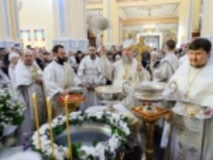 В праздник Крещения Господня глава Казахстанского митрополичьего округа совершил Литургию в Вознесенском кафедральном соборе г. Алма-Аты
