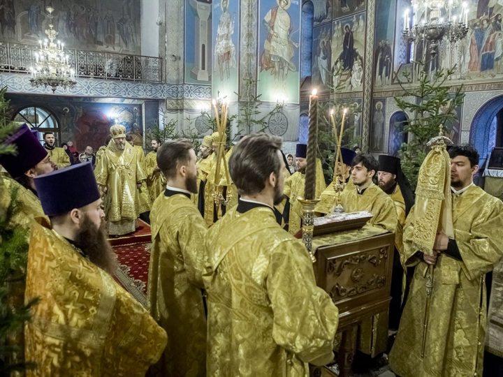 17 января 2020 г. Молебен в Знаменском кафедральном соборе в день рождения митрополита Кемеровского и Прокопьевского Аристарха