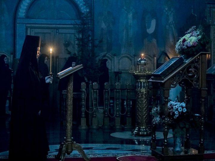 14 января 2020 г. Всенощное бдение в Свято-Серафимо-Покровском женском монастыре Ленинска-Кузнецкого в канун престольного дня