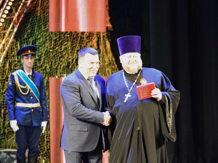 Священнослужитель принял участие в торжественном приёме главы города Новокузнецка
