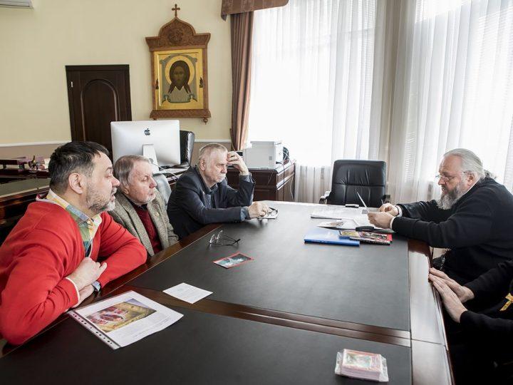 11 февраля 2020 г. Встреча митрополита Аристарха с членами Союза писателей и общественных организаций Кузбасса