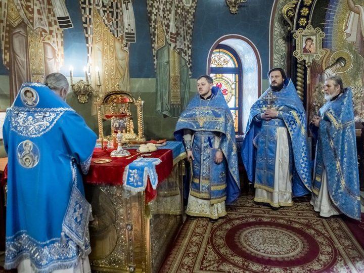15 февраля 2020 г. Божественная литургия в праздник Сретения Господня в Знаменском кафедральном соборе