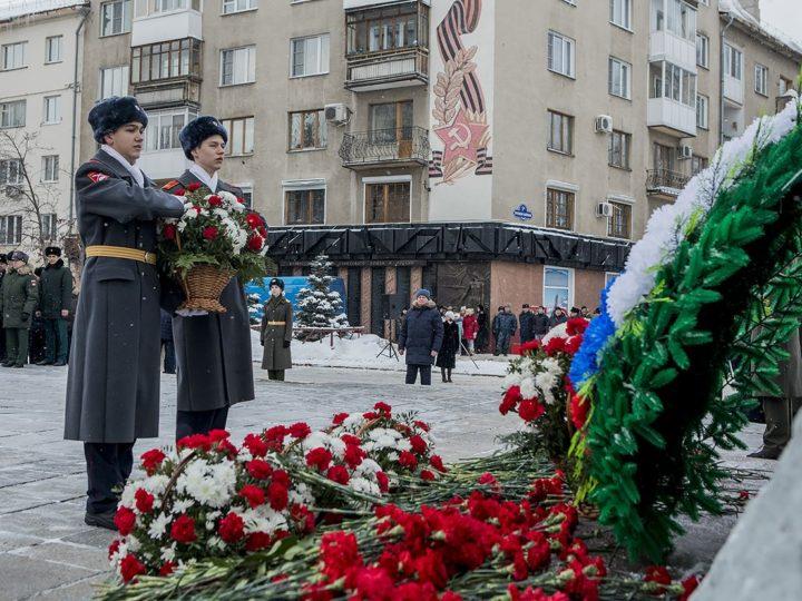22 февраля 2020 г. Возложение цветов к памятнику героям-кузбассовцам, погибшим в годы Великой Отечественной войны
