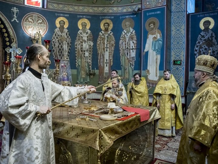 В неделю о Страшном суде митрополит совершил пресвитерскую и диаконскую хиротонии