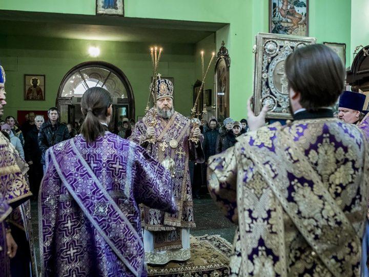 7 марта 2020 г. Божественная литургия в Иверском храме Кемерова в субботу первой седмицы Четыредесятницы