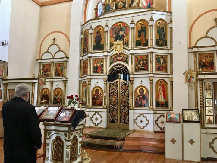 В беловских храмах помолились перед местночтимой иконой Божией Матери об избавлении от пандемии