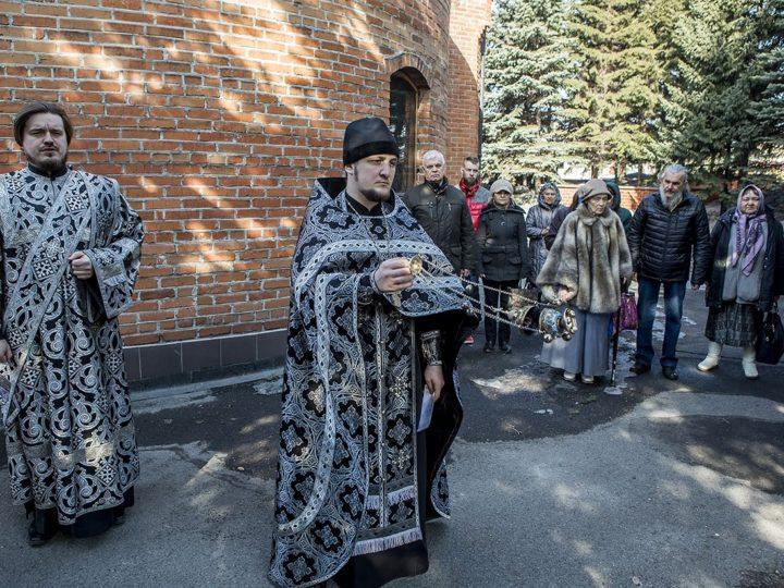 31 марта 2020 г. Панихида на могиле первого архипастыря Кузбасса