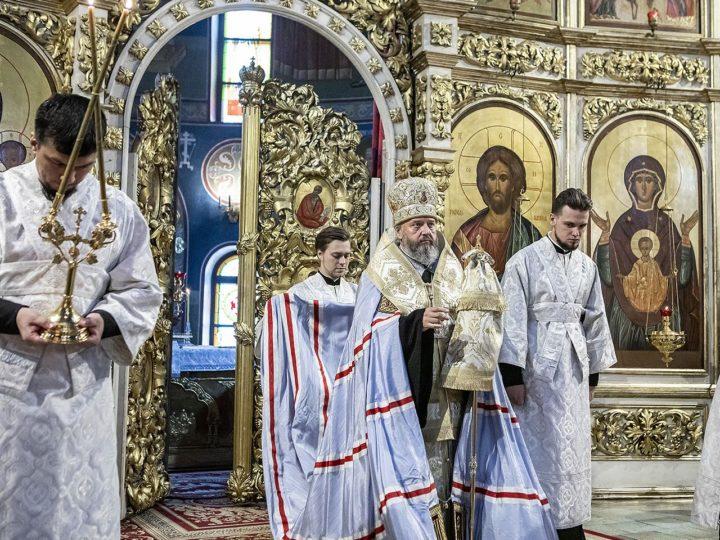 27 мая 2020 г. Всенощное бдение в канун Вознесения в Знаменском кафедральном соборе