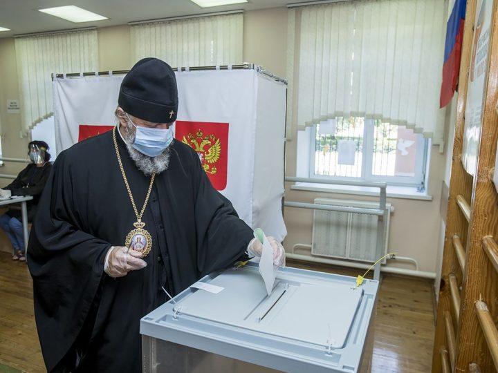 26 июня 2020 г. Участие архиереев митрополии в общероссийском голосовании