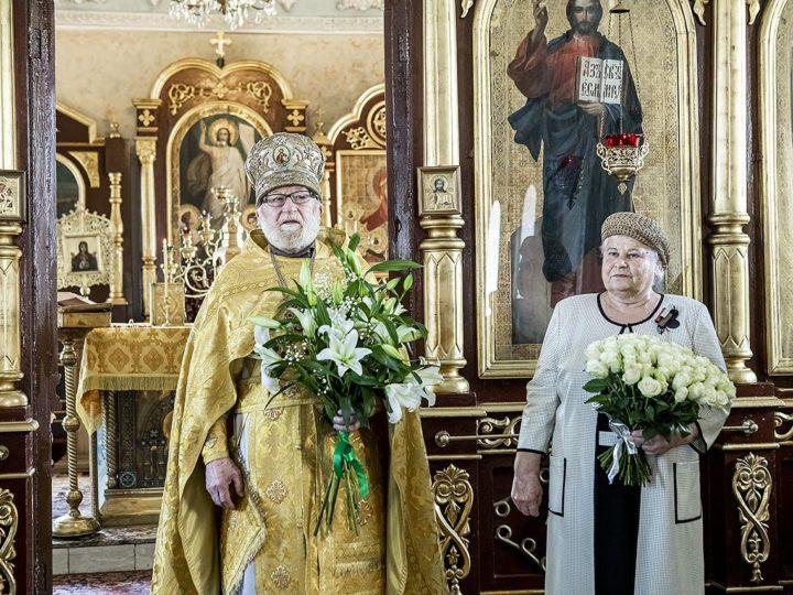 12 июля 2020 г. Чествование протоиерея Алексия и матушки Ирины Курлюта в связи с 63-летием со дня венчания