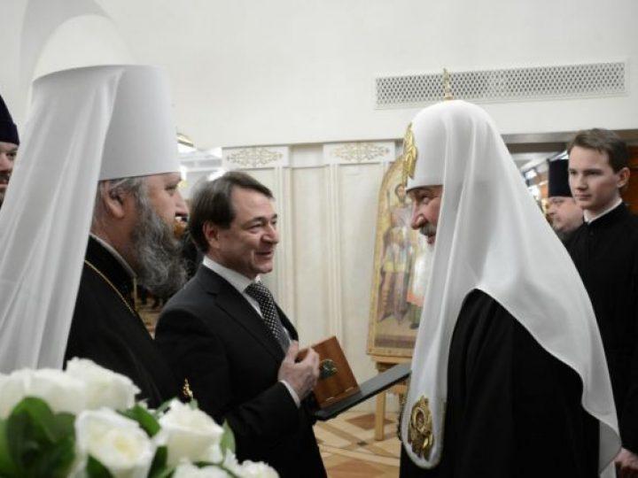 Состоялась встреча Святейшего Патриарха Кирилла с делегацией Кемеровской области