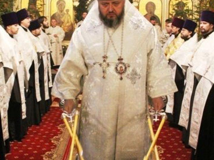 Митрополит Аристарх возглавил служение Великой Рождественской вечерни в Знаменском соборе