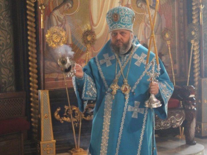 В праздник Благовещения Пресвятой Богородицы митрополит Аристарх совершил Литургию в Знаменском соборе