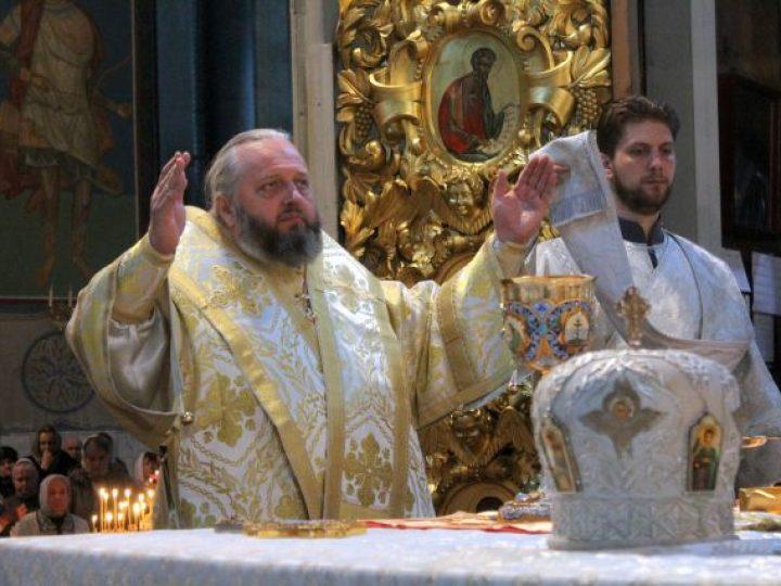 В праздник Вознесения Господня митрополит Аристарх совершил Литургию в Знаменском соборе