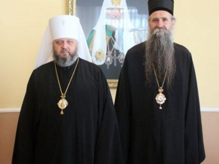 Епископ Иоанникий встретился с митрополитом Аристархом и побывал на угольном разрезе «Черниговский»