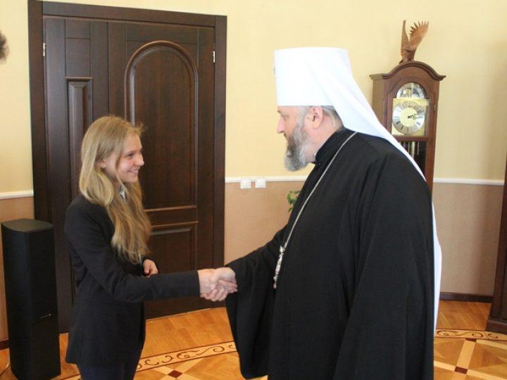 Митрополит Аристарх поздравил юных кузбассовцев — победителей Всероссийского конкурса детского творчества