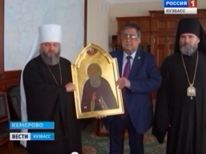 Состоялась встреча губернатора Кузбасса с митрополитом Аристархом и епископом Владимиром