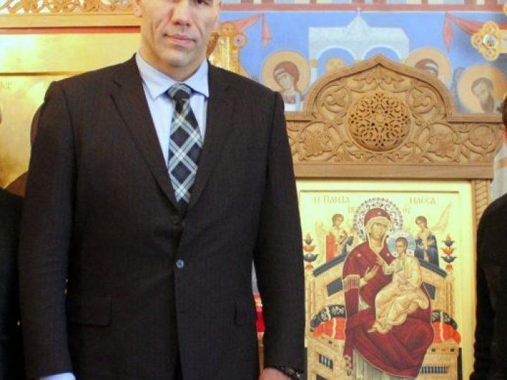 Николай Валуев подарил Кузбасской митрополии икону со Святой Горы Афон
