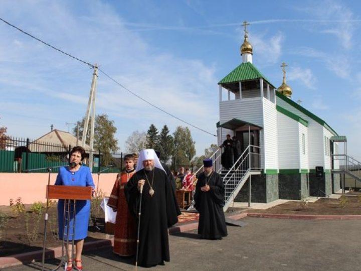 Митрополит Аристарх освятил новый храм в селе Смышляево