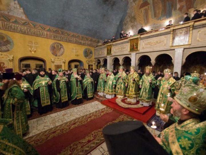 Митрополит Аристарх сослужил Патриаршему экзарху всея Беларуси Павлу в храме Московской духовной академии