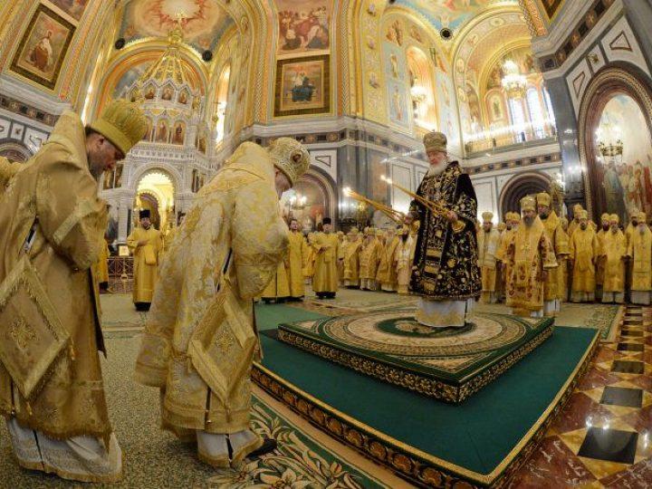 Кузбасские архипастыри приняли участие в богослужении по случаю 7-й годовщины интронизации Святейшего Патриарха Кирилла