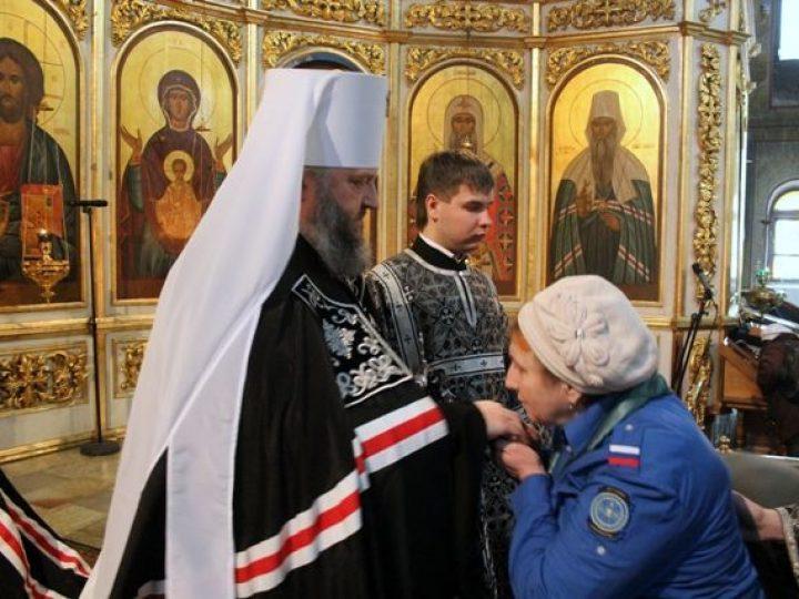 Митрополит Аристарх совершил вечерню с чином прощения в Знаменском соборе