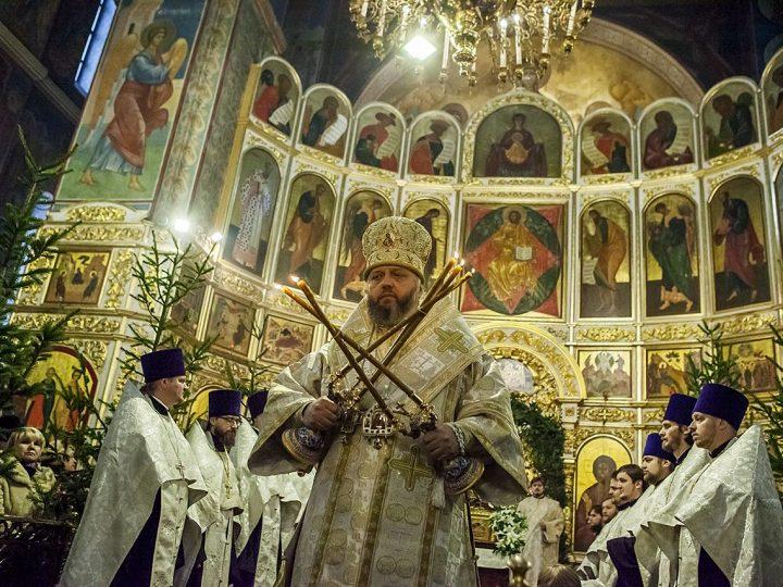 В праздник Рождества митрополит Аристарх совершил Великую вечерню в кафедральном соборе
