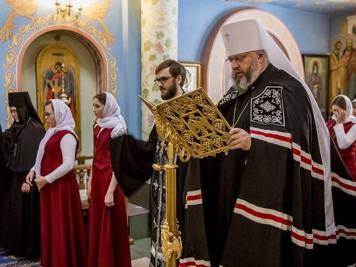 Кузбасский митрополит прочел канон преподобного Андрея Критского в женском монастыре