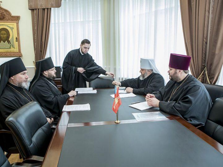 Состоялось очередное заседание Архиерейского совета Кузбасской митрополии