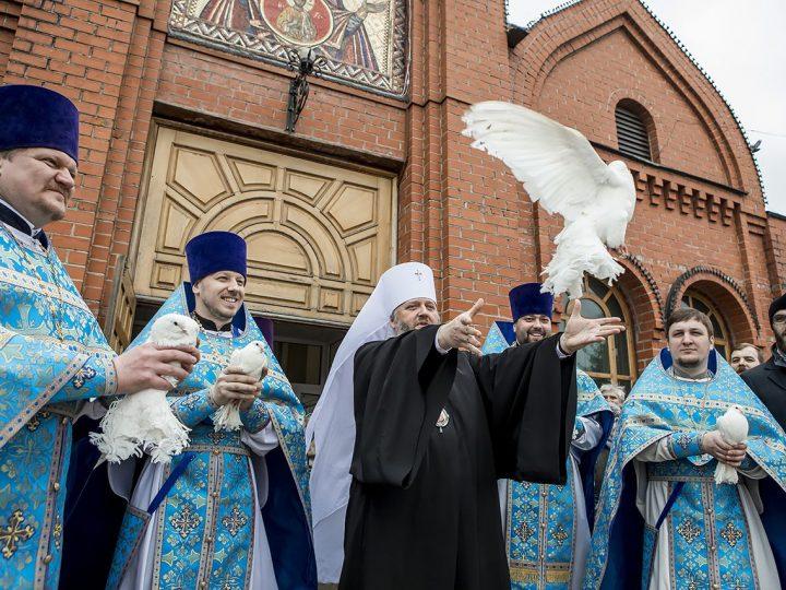 В праздник Благовещения митрополит совершил Божественную Литургию