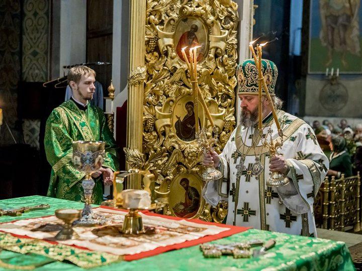 В праздник Входа Господня в Иерусалим глава митрополии совершил Литургию в кафедральном храме