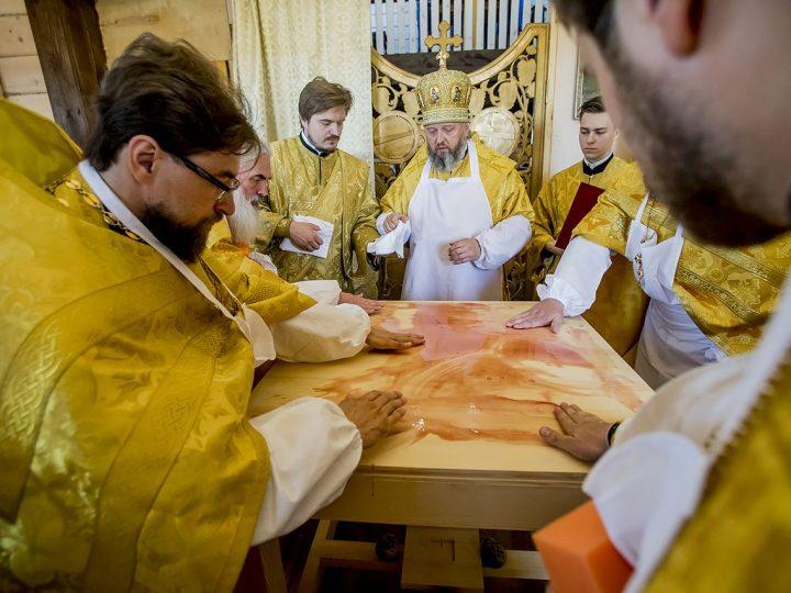 В Осиновке освящен храм в честь первых русских святых